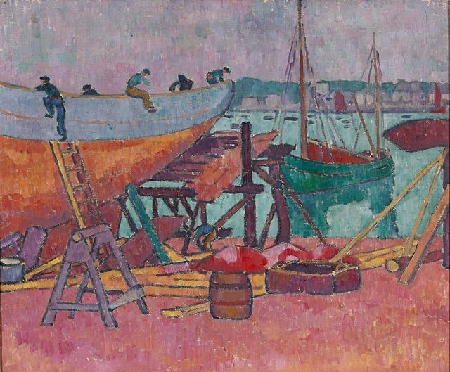 , 'In der Bootswerft,' 1905, Galerie Herold