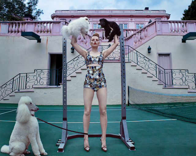 Steven Klein, 'Guinevere at the Pink Mansion, Beverly Hills', 2017, Photography, Chromogenic print, flush-mounted., Phillips