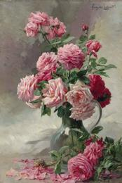 A Vase of Pink Roses