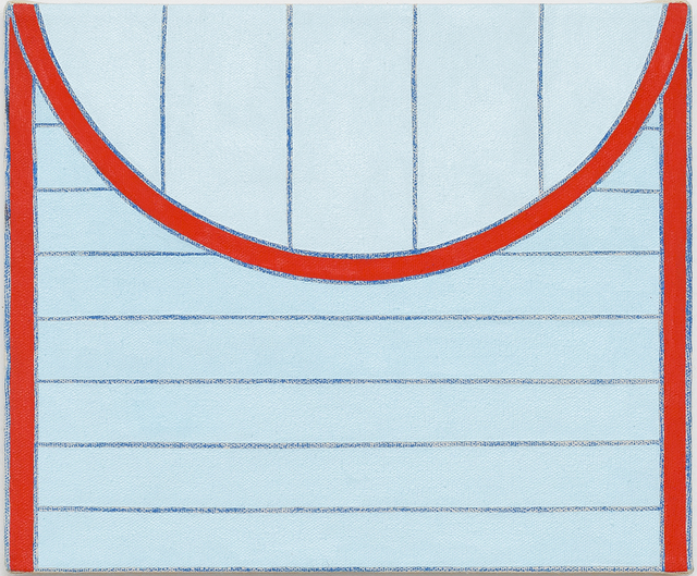 ", '""Round Striped Envelope (Blue and Red)"",' 2015, Serving The People"