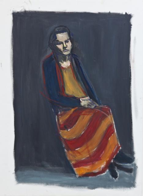 , 'Maëlle assise sur fond noir,' 2013, Maison Particulière