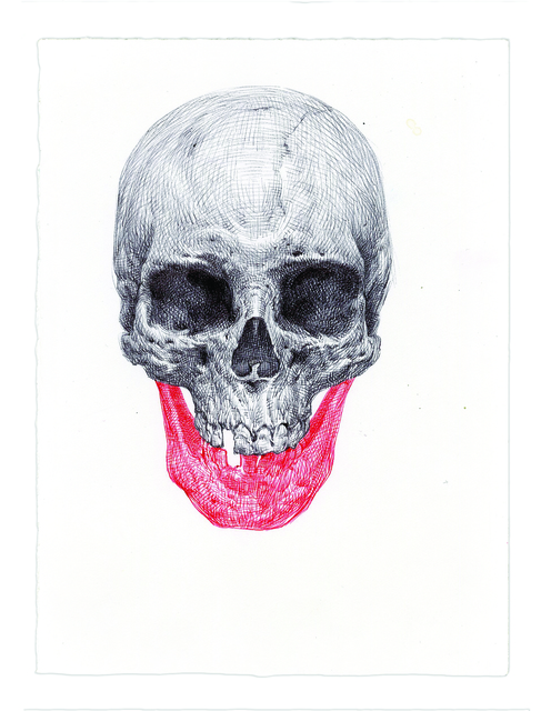 , 'Red Draw Skull,' 2016, Subliminal Projects