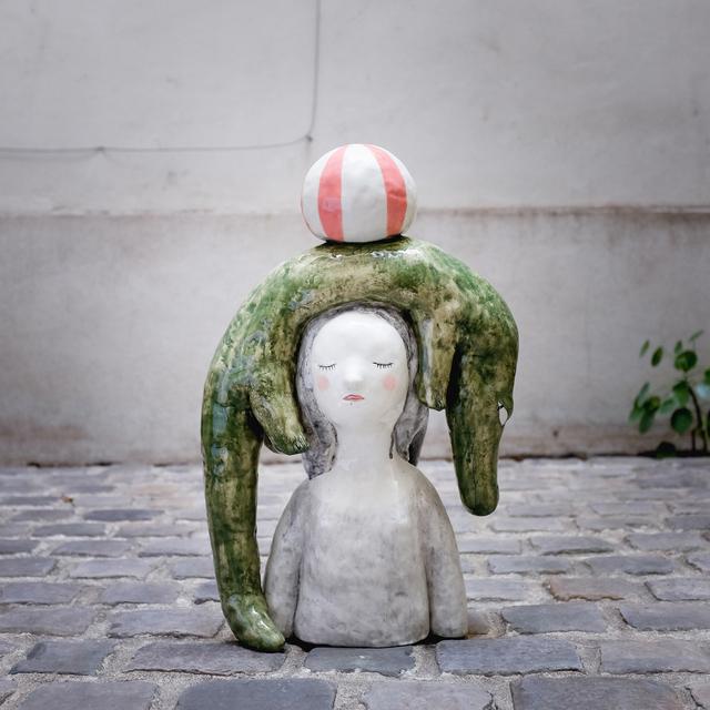 , 'Crocodile bust,' 2018, Antonine Catzéflis
