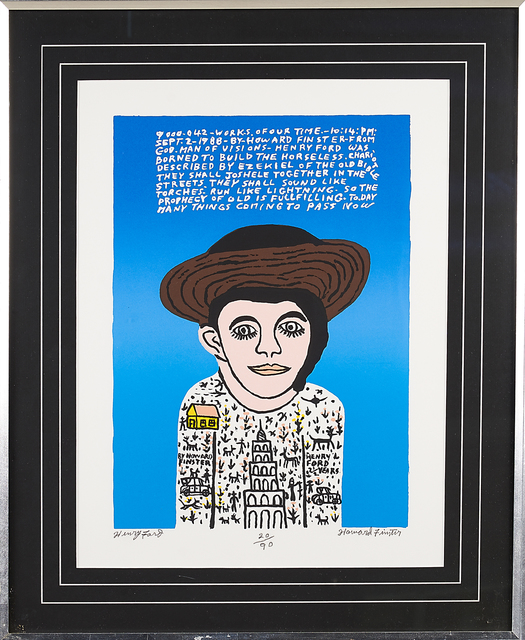 Howard Finster, 'Two Screenprints: Henry Ford and Center of Earth', Rago