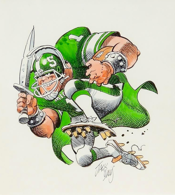 Jack Davis, 'Michigan State Spartans Football Illustration', The Illustrated Gallery