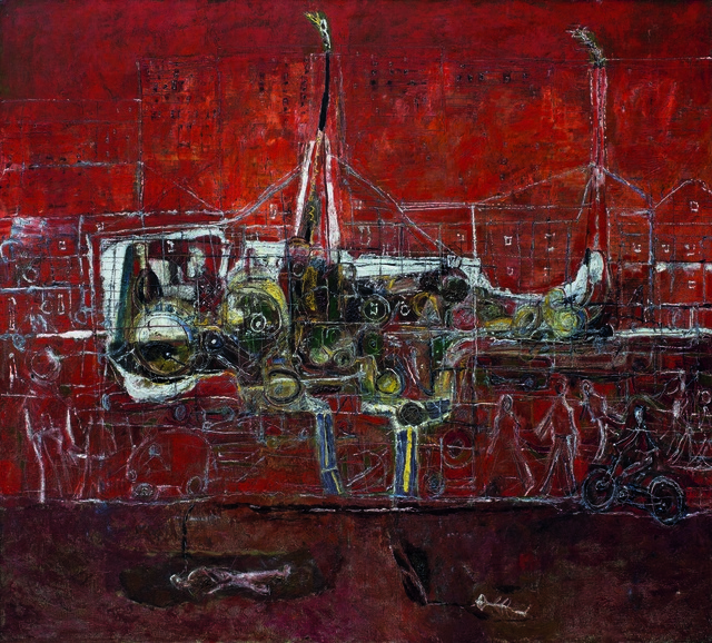 Huanqing Wang, 'The Red Shijiazhuang', 1996, Hive Center for Contemporary Art