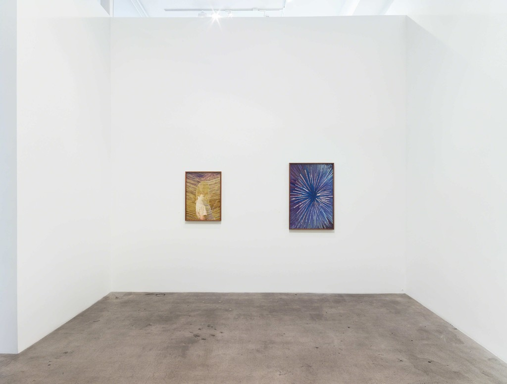 """Installation view of """"Transfigured."""" with photographs by Evan Whale"""