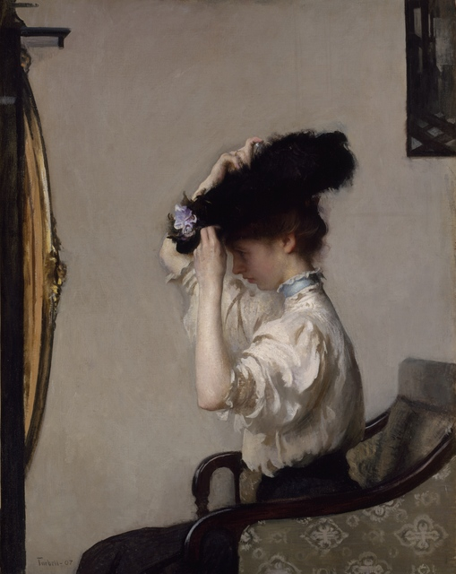Edmund Charles Tarbell, 'Preparing for the Matinee,' 1907, Indianapolis Museum of Art