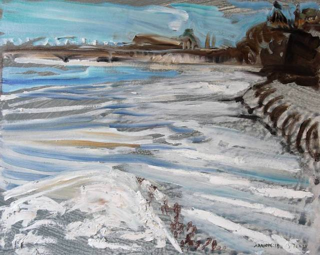 , 'View of Victoria Island to Parliament Hill, Ottawa, January 25, 2018,' 2018, Robert Kananaj Gallery