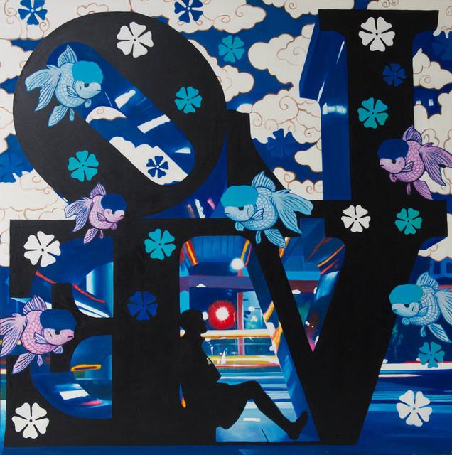 Hiro Ando, 'TRIBUTE TO ROBERT INDIANA BLUE', Gallery 32