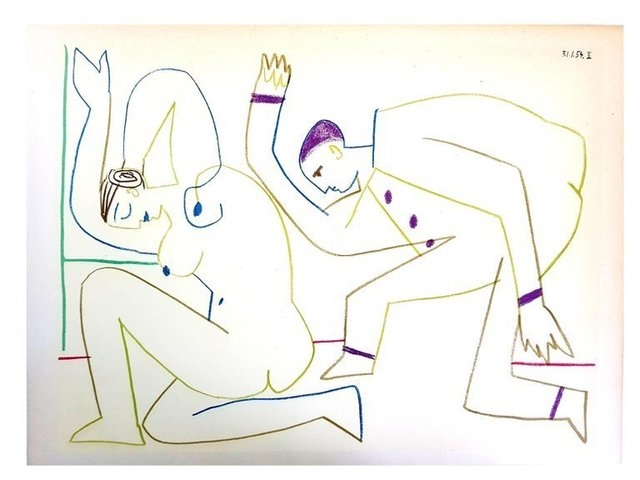 """Pablo Picasso, 'Lithograph """"Human Comedy III"""" after Pablo Picasso', 1954, Galerie Philia"""