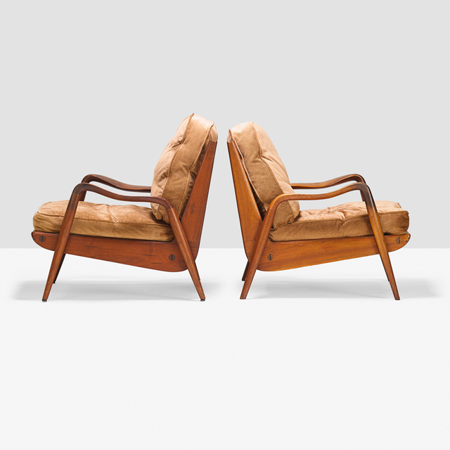 Phil Powell, 'Pair of New Hope lounge chairs, New Hope, PA', 1960s, Rago