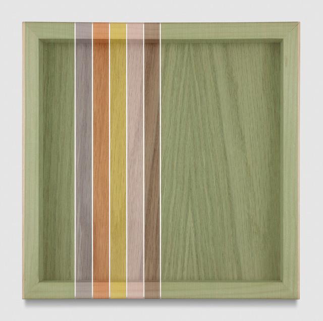 , 'Untitled (Avocado Green Hovering Thread),' 2017, PRAZ-DELAVALLADE