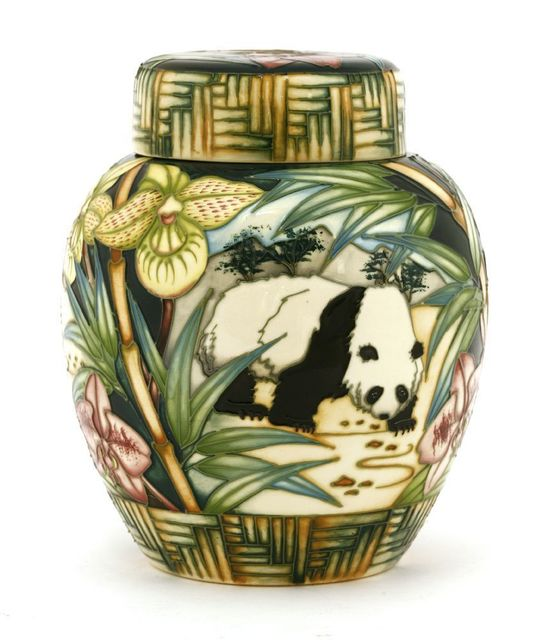 Sion Leeper, 'A Moorcroft Collectors' Club 'Panda' ginger jar and cover', 2004, Sworders