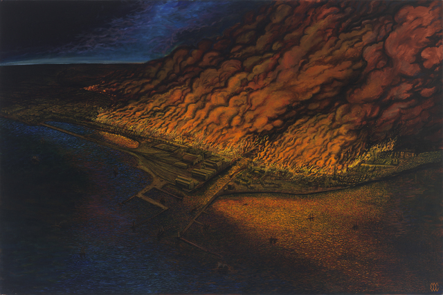 , 'The Great Chicago Fire of 1871,' 2013, Gallery Victor Armendariz