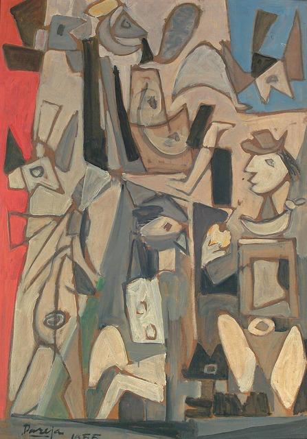 , 'Composición con figuras,' 1955, Galería de las Misiones