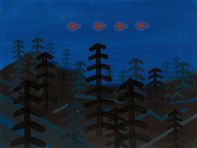 , 'Parade of red orbs with cylindrical attachments - Edgewood, WA,' 2015, G. Gibson Gallery
