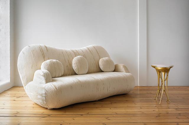 Mattia Bonetti, 'Sofa 'Cloud'', 2008, Design/Decorative Art, Sculptural wood frame, upholstered in mohair velvet, David Gill Gallery