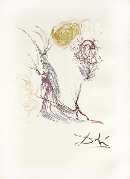 Salvador Dalí, 'Le Spectre et la Rose  (The Spectrum  and the Rose)', 1968, Puccio Fine Art