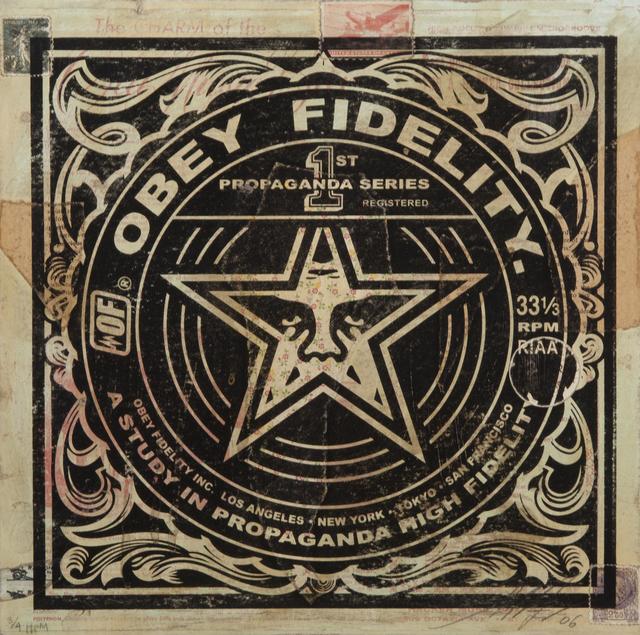 Shepard Fairey (OBEY), 'Obey Fidelity', 2006, Julien's Auctions