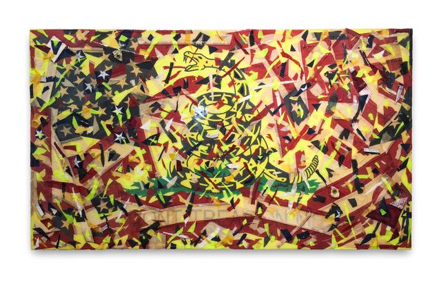 , 'Emergency Exploding Flag (don't tread on me),' 2017, Fabien Castanier Gallery