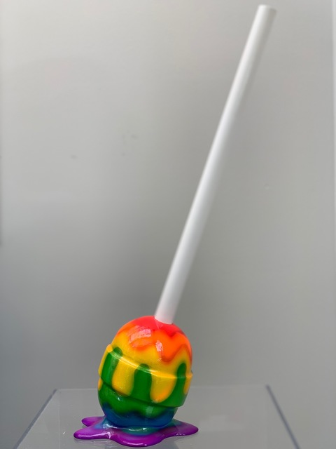 Elena Bulatova, 'The Sweet Life Small Rainbow Lollipop', 2019, Elena Bulatova Fine Art