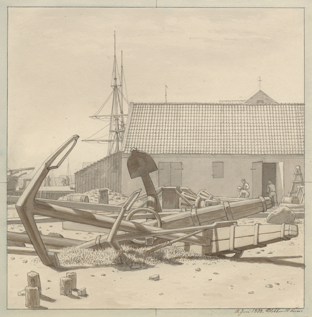 , 'Anchors at Larsen's Yard,' 1835, Statens Museum for Kunst