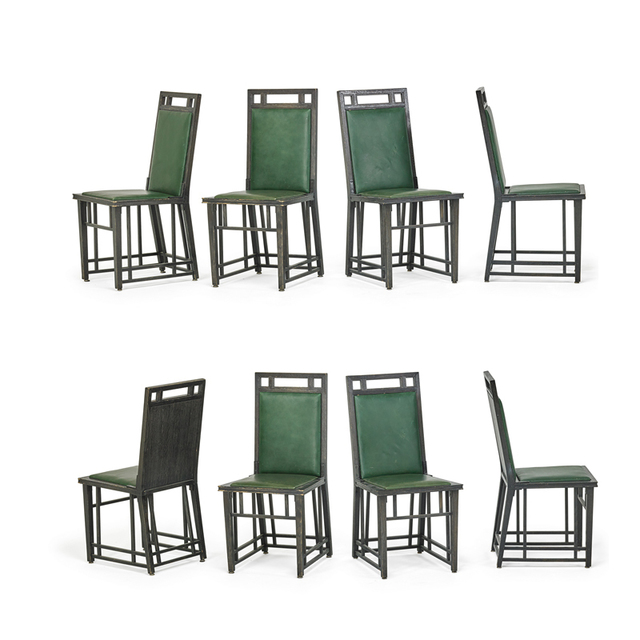 'Eight Arts & Crafts Dining Chairs, Chicago, IL, USA', Early 20th C., Rago/Wright