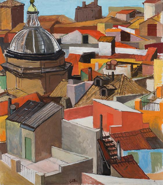 Renato Guttuso, 'Tetti romani del Rione Monti (Tetti di Roma e cupola della Madonna dei Monti)', 1962 -1964, Painting, Oil on canvas, Il Ponte