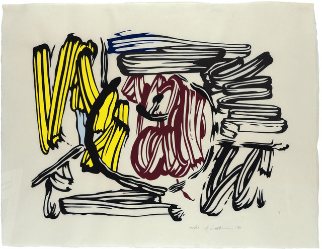 Roy Lichtenstein, 'Red & Yellow Apple', 1983, Print, Woodcut on Handmade Iwano Kizuki Hosho Paper, Maddox Gallery