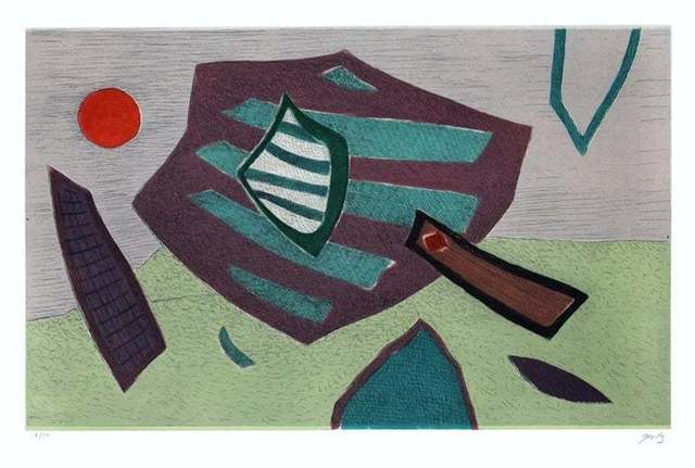 Henri Goetz, 'Green Composition ', 1980, Wallector