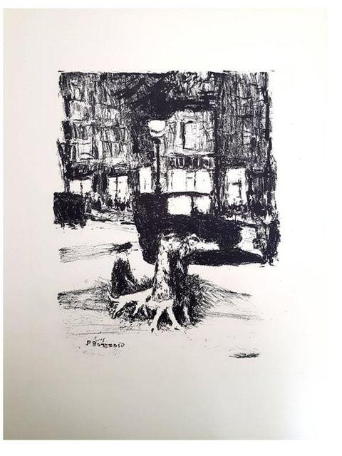 "Pierre Bonnard, 'Original Lithograph ""The Street"" by Pierre Bonnard', 1927, Print, Rives Vellum, Galerie Philia"
