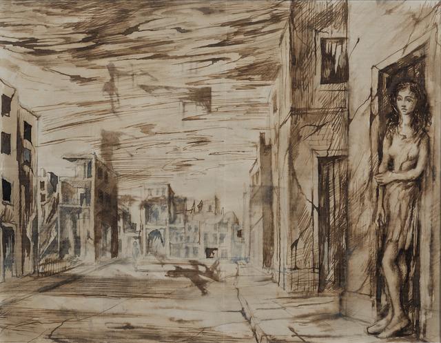 , 'Bomb Damaged Buildings,' ca. 1944, Osborne Samuel