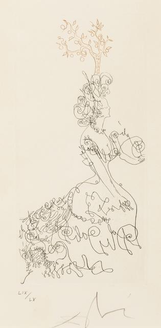 Salvador Dalí, 'La Dame de l'Orangerie (M&L 217a)', 1967, Print, Etching printed in colours, Forum Auctions