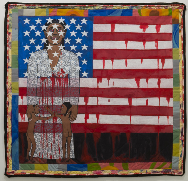 , 'The Flag is Bleeding #2 (American Collection #6),' 1997, Pippy Houldsworth Gallery