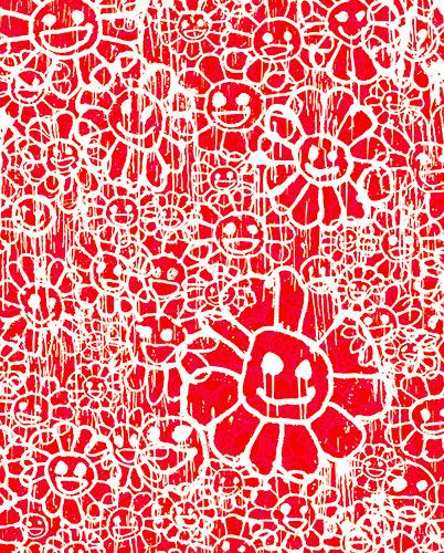 Takashi Murakami, 'Madsaki Flowers B Red', 2017, Dope! Gallery