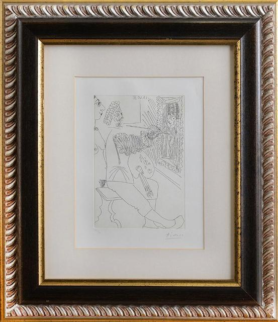 Pablo Picasso, 'Peintre et curieux', 1968, Drawing, Collage or other Work on Paper, Etching on paper, Area Consulting