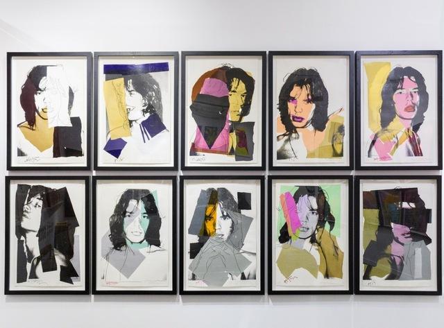 Andy Warhol, 'Mick Jagger Complete Portfolio (FS II.138-147)', 1975, Print, Screenprint on Arches Aquarelle (Rough) Paper, Revolver Gallery