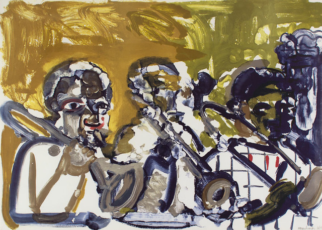 , 'Brass Section (Jamming at Minton's),' 1979, Alan Avery Art Company