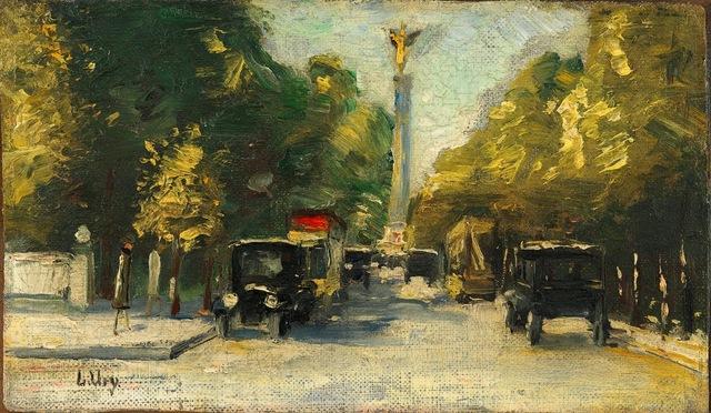 , 'Siegesallee mit Siegessäule im Sommer, Berlin,' ca. 1925, Ludorff