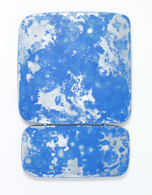 , 'Some kinda blue over some kinda blue,' 2019, Leila Heller Gallery