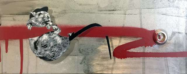 , 'Rat Hanging (Red),' 2018, NextStreet Gallery