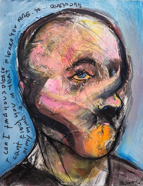 Esteban Jiménez Guerra, 'Selfie', 2005, Painting, Mixed media on canvas, DETOUR Gallery