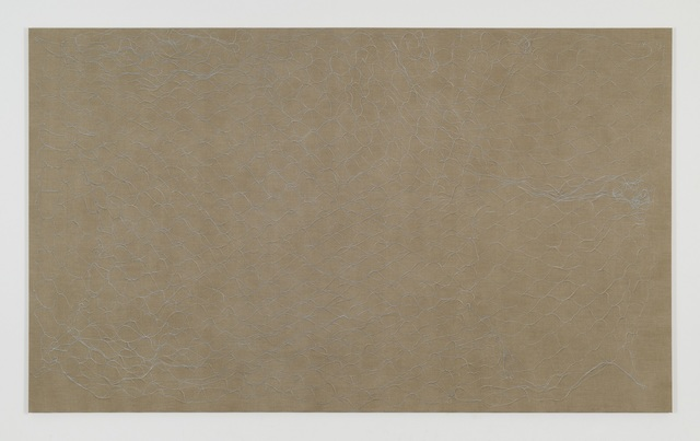 , 'Blue Net Painting,' 2018, James Cohan