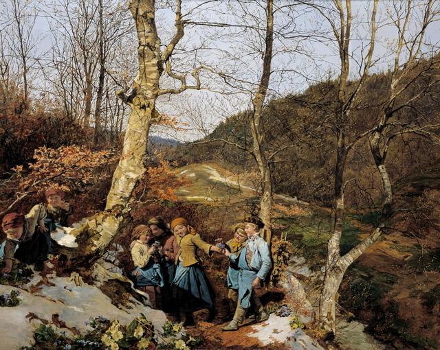 Ferdinand Georg Waldmüller, 'Early Spring in the Vienna Woods', 1861, Belvedere Museum