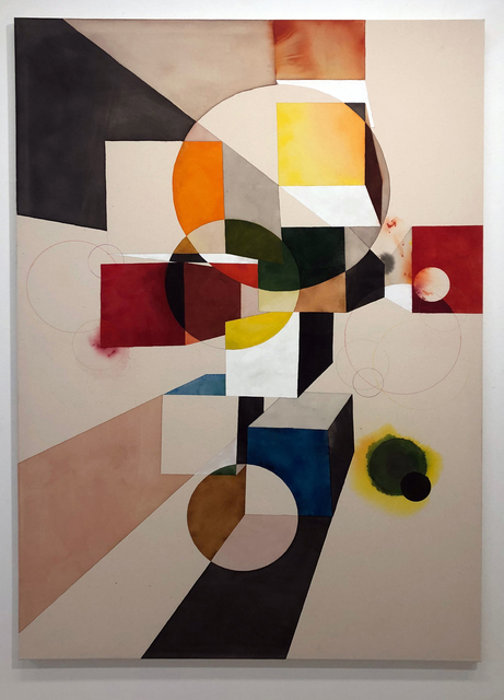 Tuomas Korkalo, 'Dramatic Composition III', 2020, Mixed Media, Watercolour, sumi-ink and acrylic on canvas, BBA Gallery