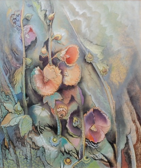 , 'Abstract Hollyhocks,' , Amanda Winstead Fine Art
