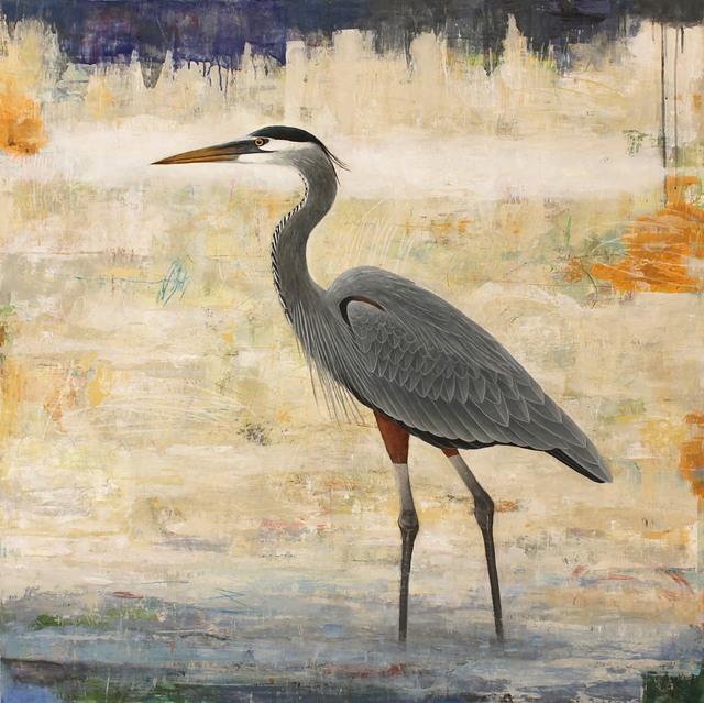 , 'Sentinel (Great Blue Heron),' 2017, Patricia Rovzar Gallery