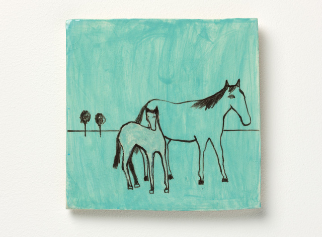 , 'Mare with foal 2,' 2016, Niagara Galleries