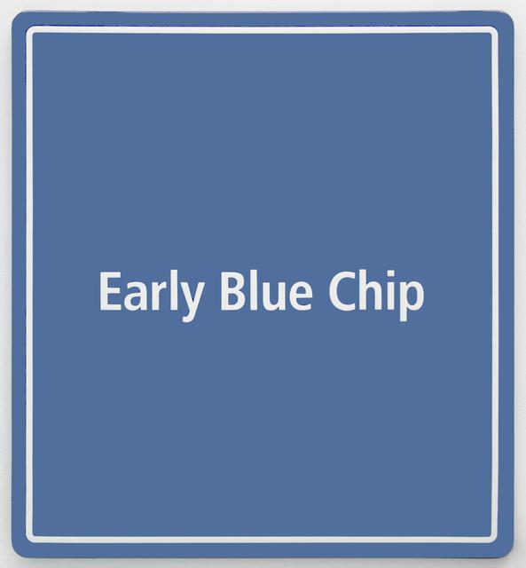 , 'Early Blue Chip 3,' 2016, Steve Turner